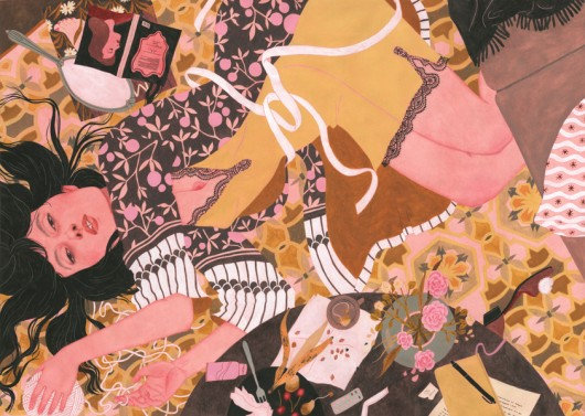 Las ilustraciones de Rikka Sormunen: un cruce entre la indumentaria, lo simbólico y femenino