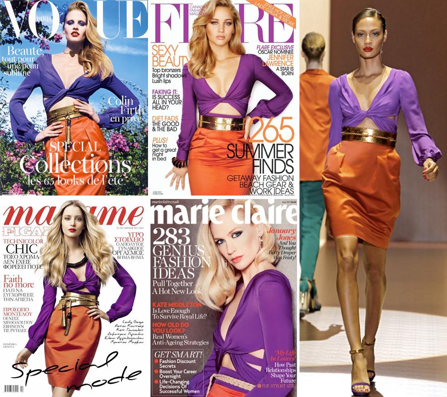 Distintas portadas, el mismo vestido