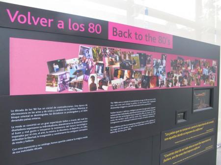 """""""Volver a los 80"""" en el Museo de la Moda"""