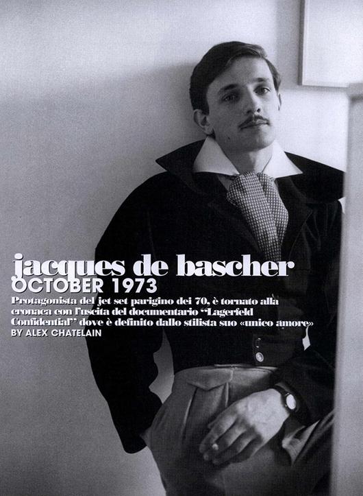 Jacques de Bascher: el primer it boy francés