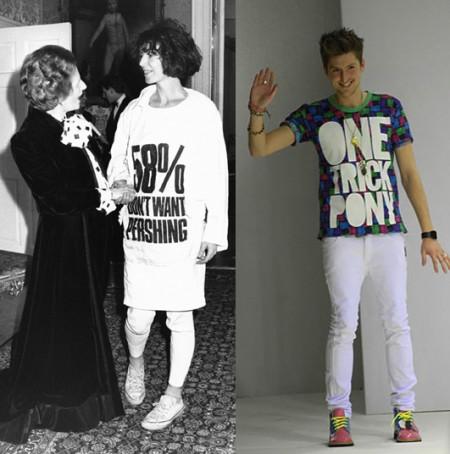 Mensajes en la moda: Katharine Hamnett y Henry Holland