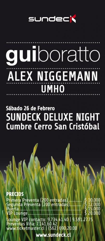 Sundeck deluxe night 26/02/11: Gui Boratto, Alex Niggeman y Umho