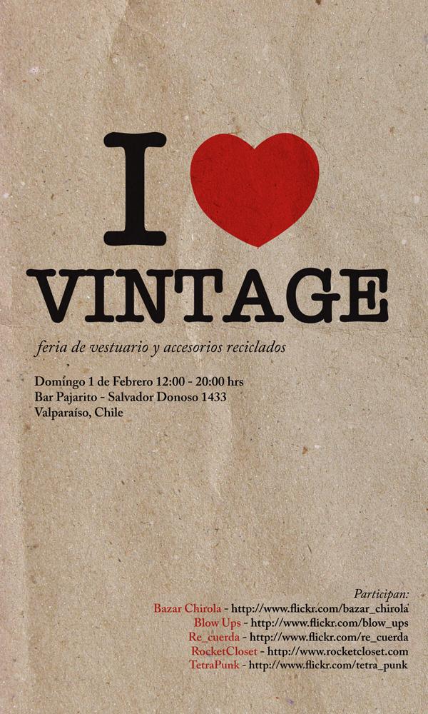 """Venta """"I Love Vintage"""" Valparaíso"""