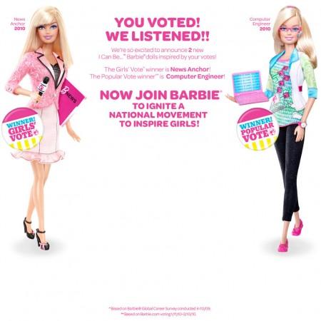 La nueva profesión de Barbie 2010