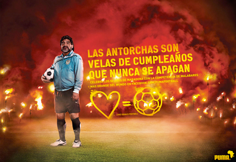 Puma celebra a Diego