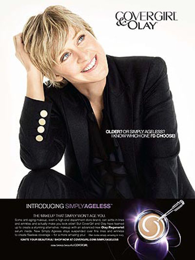 Ellen Degeneres, lesbiana y rostro de cosméticos
