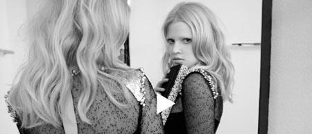 Lara Stone y el corto de Lagerfeld