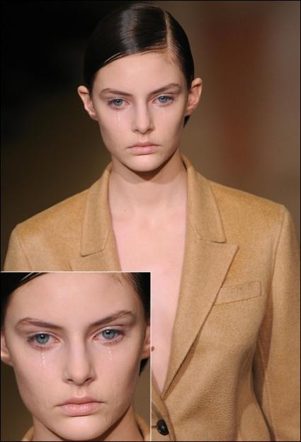 Las modelos también lloran