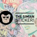 The Simian Sticker – Decoración