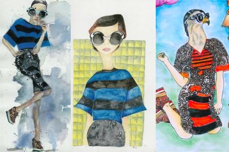 """Prada: ilustraciones para """"Minimal Barroque"""""""