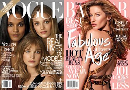 Gisele y Natalia: modelos a través de la historia