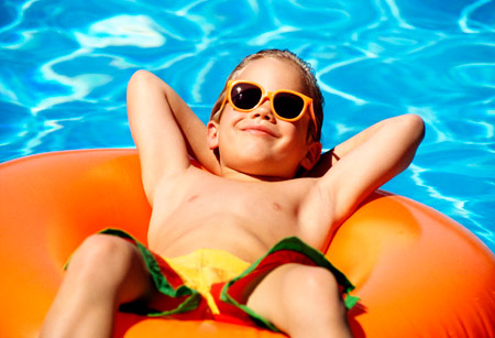 Ropa infantil con filtro UV