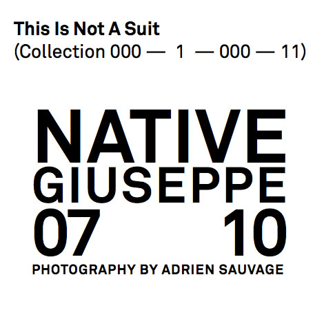 This Is Not A Suit por Adrien Sauvage