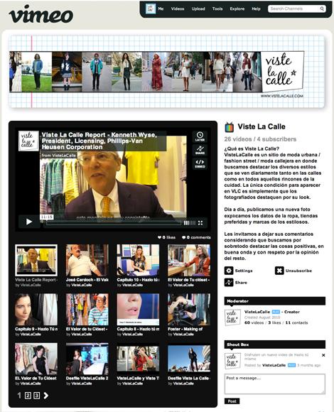 El espacio de VLC en Vimeo