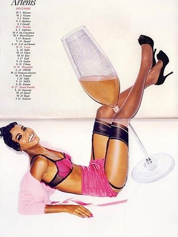 El esperado calendario Vogue 09