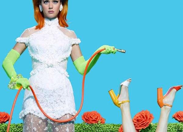 La campaña de Katy Perry Footwear por Miles Aldridge