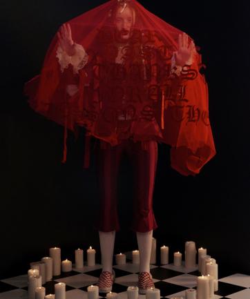 De María Antonieta a David Bowie, la sorprendente colección de Dilara Findikoglu en London Fashion Week