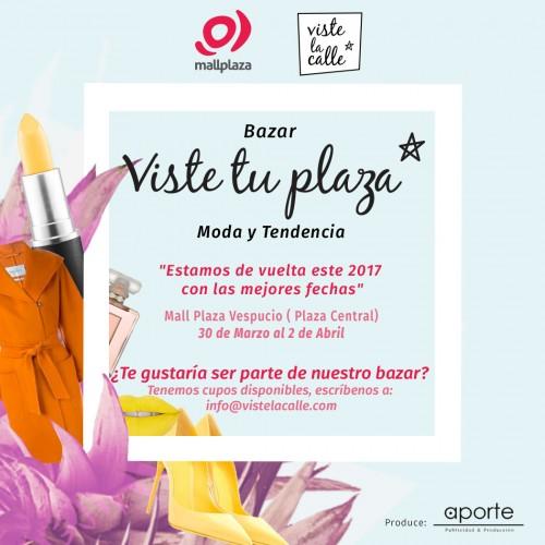 VisteTuPlaza: ¡Inscríbete y se parte de el bazar de Mall Plaza Vespucio!