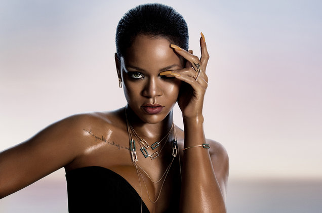 Rihanna lanzará una línea de joyería con la marca Chopard