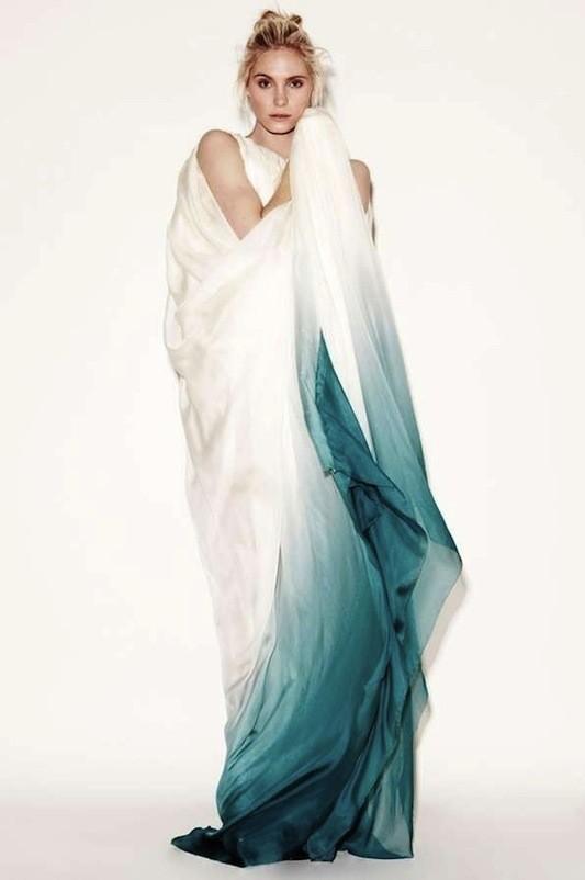 Trajes estilo ombré y dip dye, la próxima gran tendencia en novias