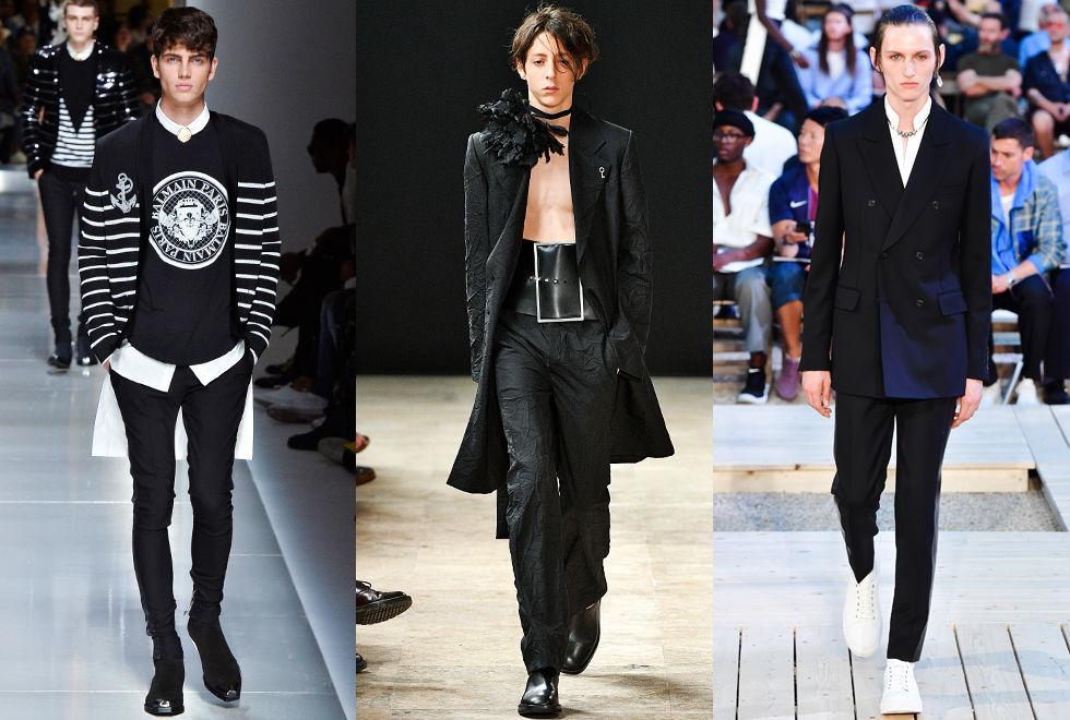 París trae de nuevo el negro para la temporada Primavera Verano 2018.  Mientras que diseñadores como Kris Van Assche y Haider Ackermann desde hace  tiempo han ... 04189de41fd