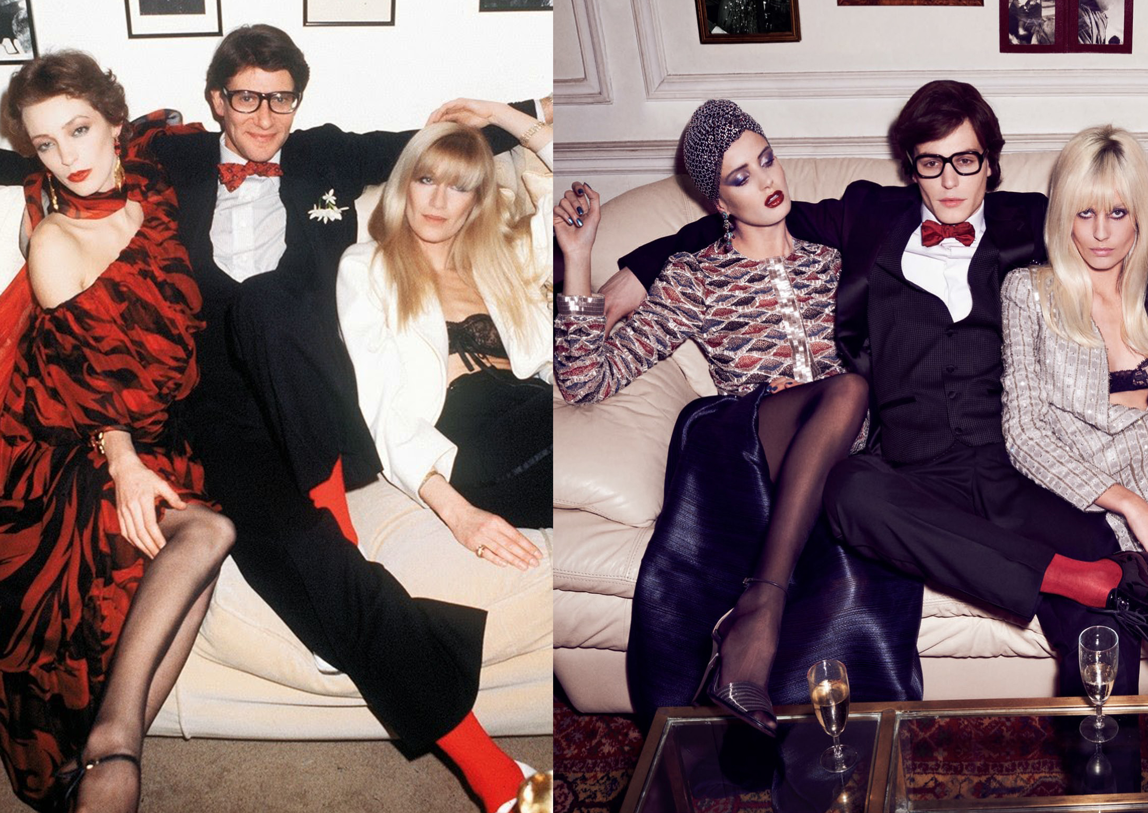 Inspiraciones de moda: Modelos como Yves Saint Laurent, Betty Catroux y Loulou de la Falaise, 2014