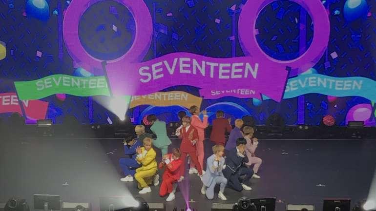 El concierto neoyorquino de Seventeen, la banda de k-pop que debuta hoy en Chile