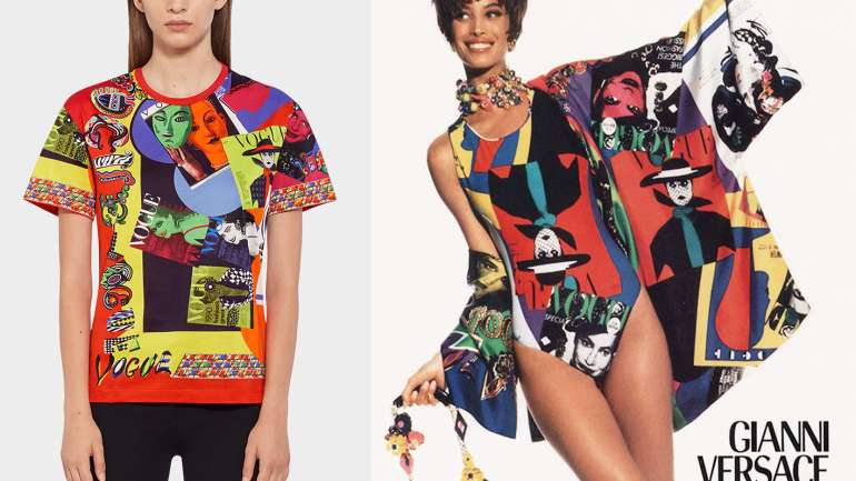 La colección cápsula de poleras que rinden tributo a Gianni Versace