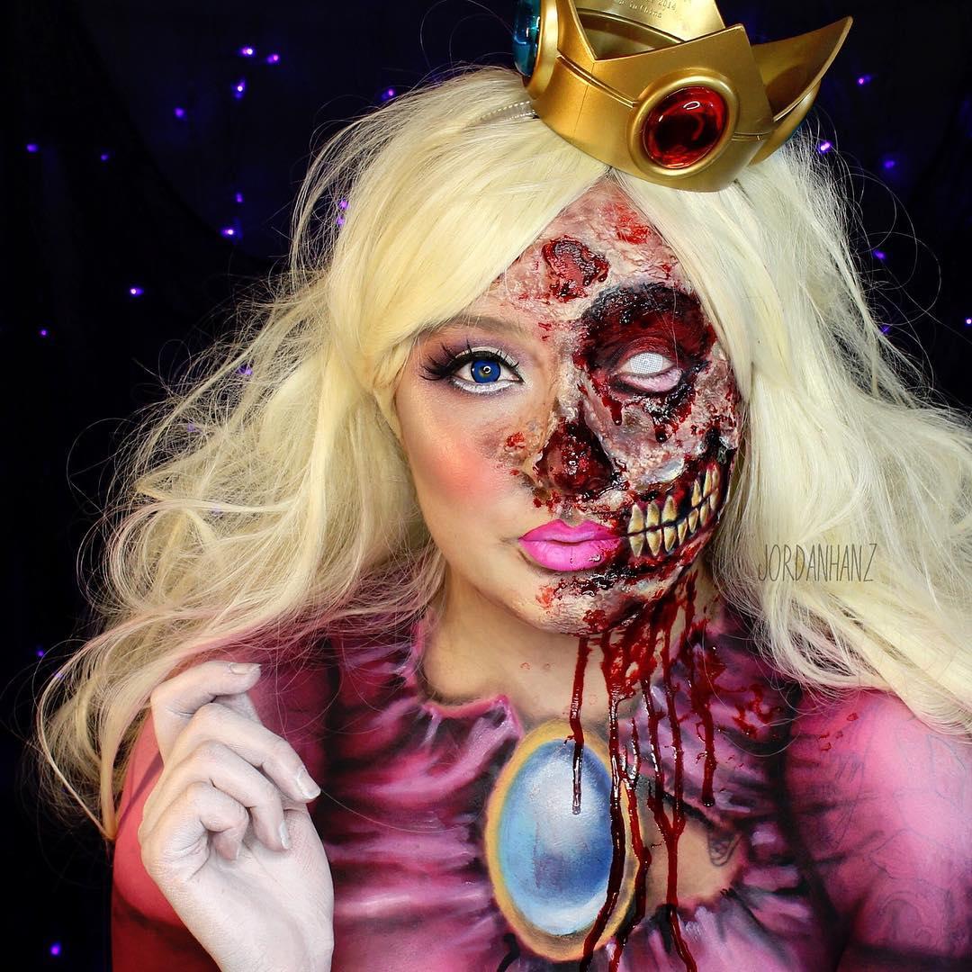 Ideas para Halloween: Disfraces realizados con pinceles, sombras y pinturas