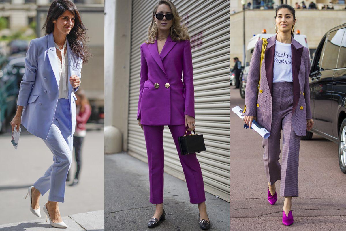 Tendencia: Cómo vestir el traje de pantalón y chaqueta – Viste la Calle