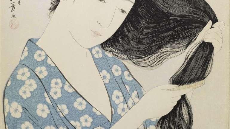Postales femeninas del Japón tradicional: Hashiguchi Goyo