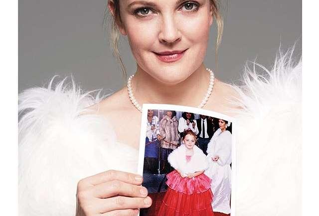 Drew Barrymore al estilo de su infancia en la revista InStyle