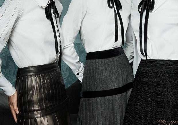 El poder de la camisa blanca + el lazo negro
