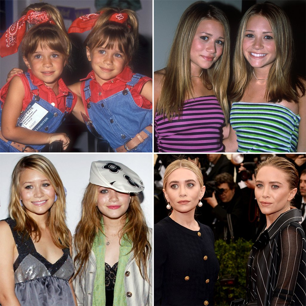 La evolución de las gemelas Mary Kate y Ashley Olsen