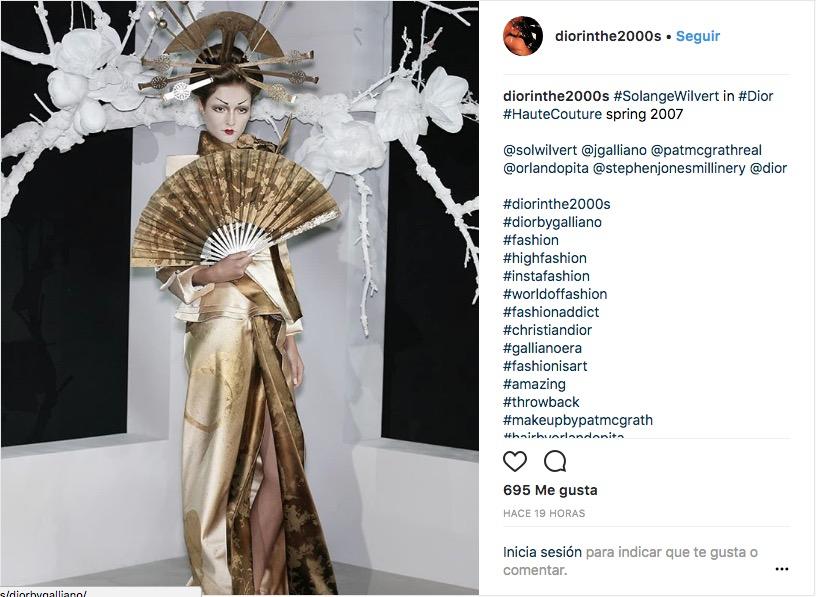 @diorinthe2000s, la cuenta chilena de Instagram que documenta la era Galliano en Dior