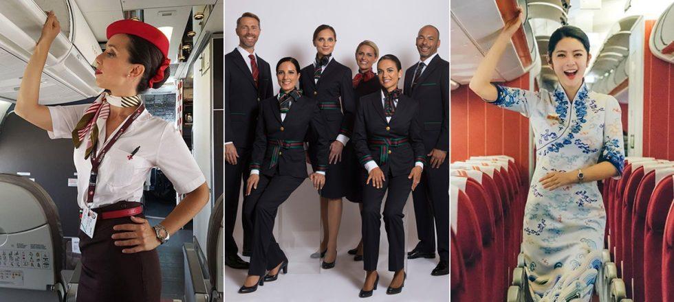 Los uniformes aéreos más estilosos del mundo