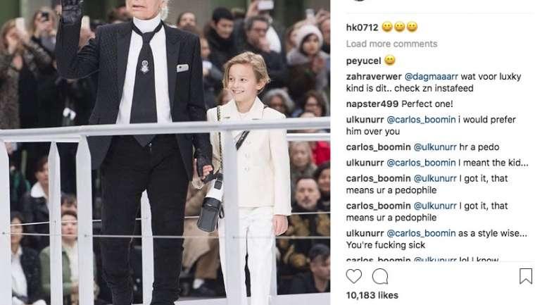 """Hudson Kroenig, el pequeño """"muso"""" de Karl Lagerfeld y su cuenta de Instagram"""