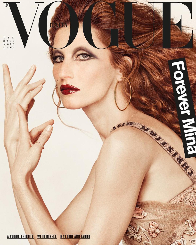 La legendaria figura de Mina Mazzini es homenajeada por Vogue Italia