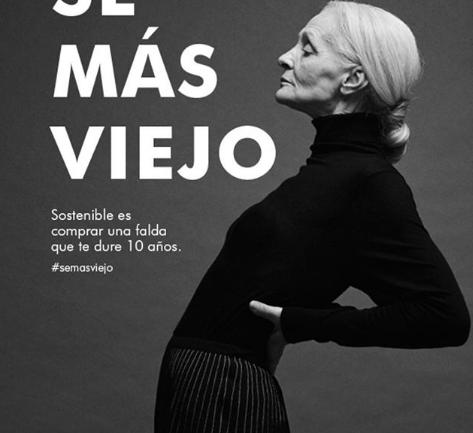 'Sé más viejo', la campaña de Adolfo Domínguez contra la moda desechable