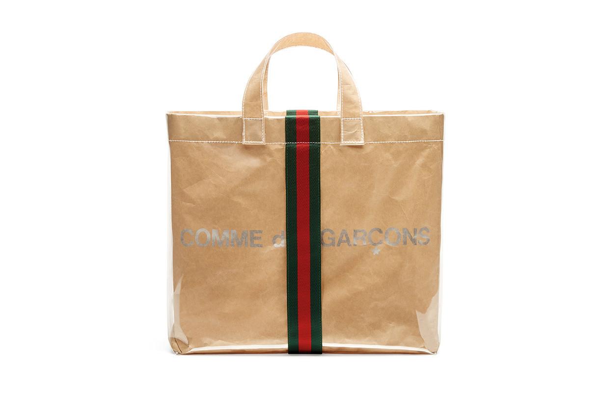 Las firmas Gucci y COMME des GARÇONS se unieron para lanzar un bolso