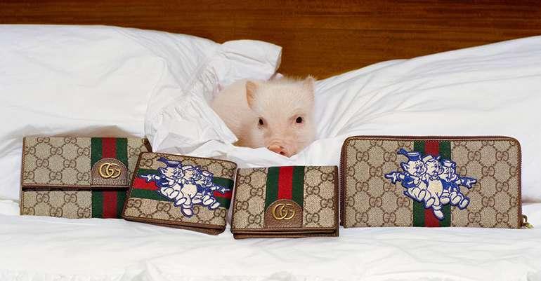 """Gucci celebra el Año Nuevo Chino con una colección cápsula inspirada en """"Los Tres Cerditos"""" de Disney"""