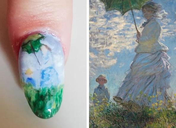 """Entrevista a Catalina Vera, la nail artists que replica obras de arte en uñas postizas: """"Hay miles de manicuristas que te pueden dibujar a la Minnie, pero en Chile no había ninguna que te pudiera hacer un cuadro de Goya"""""""