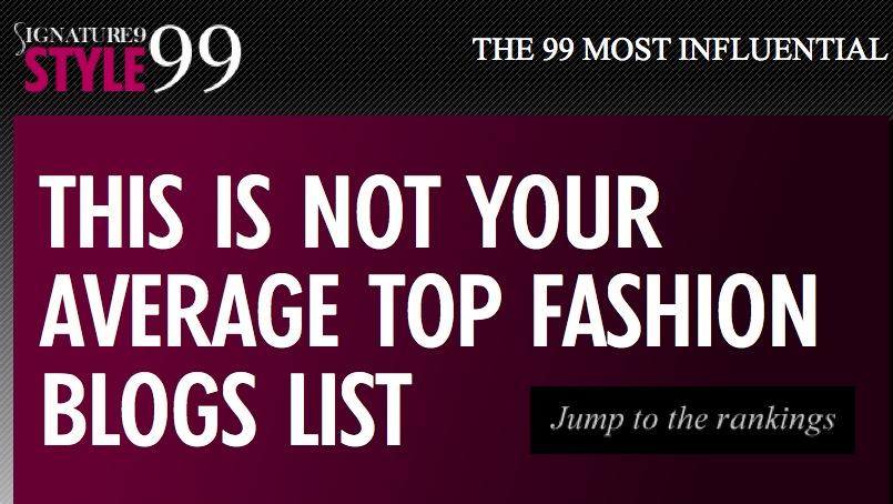 Los 99 blogs de moda más influyentes del momento según Signature 9