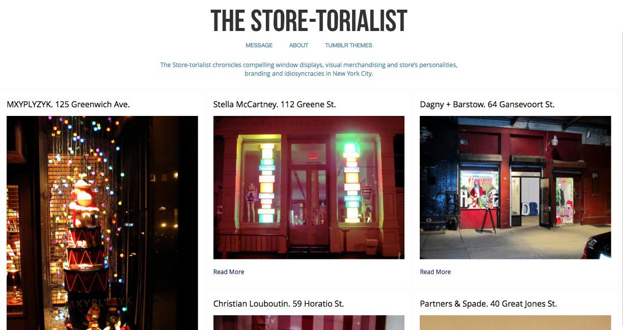 The Store-torialist, amor por las vitrinas