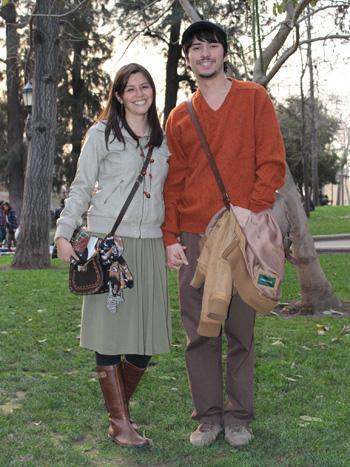Marjorie Cataldo y Felipe Rodriguez