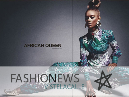 """Fashion News: polémica entorno a editorial """"African Queen"""", Karl Lagerfeld transmite online el lanzamiento de nueva tienda y descuentos en Dimensión Azul"""