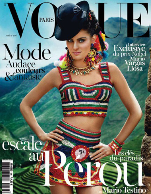 "Vogue París Abril 2013: ""Montañas Sagradas de Cusco"""