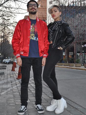 Guey Jhonson y Elisa Espinoza