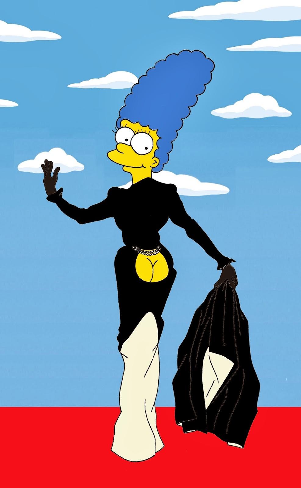 Marge Simpson y los vestidos icónicos por Humor Chic