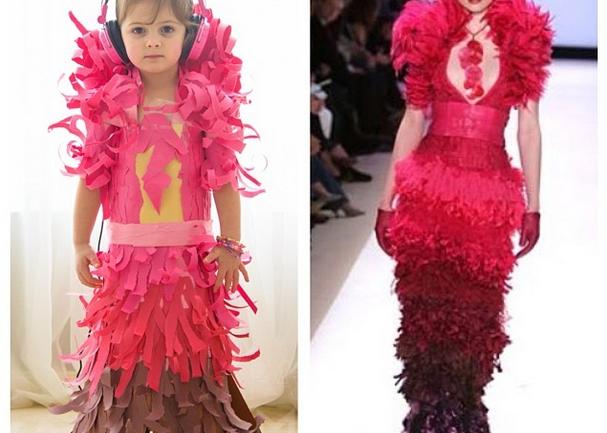 Mayhem: la niña que ha revolucionado en un día las redes sociales con sus clones de famosos vestidos